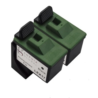 Sophia Global Remanufactured Ink Cartridge Replacement for Lexmark 17 (2 Black)