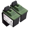 Sophia Global Remanufactured Ink Cartridge Replacement for Lexmark 16 (2 Black)