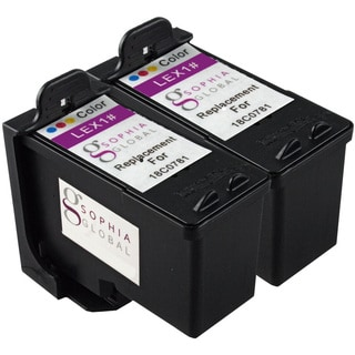 Sophia Global Remanufactured Ink Cartridge Replacement for Lexmark 1 (2 Color)