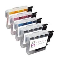 Sophia Global Compatible Ink Cartridge Replacement for Brother LC61 (2 Black, 1 Cyan, 1 Magenta, 1 Yellow)