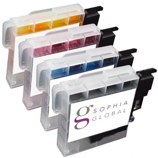 Sophia Global Compatible Ink Cartridge Replacement for Brother LC61 (1 Black, 1 Cyan, 1 Magenta, 1 Yellow)