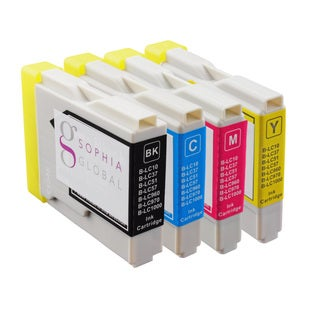 Sophia Global Compatible Ink Cartridge Replacement for Brother LC51 (1 Black, 1 Cyan, 1 Magenta, 1 Yellow)