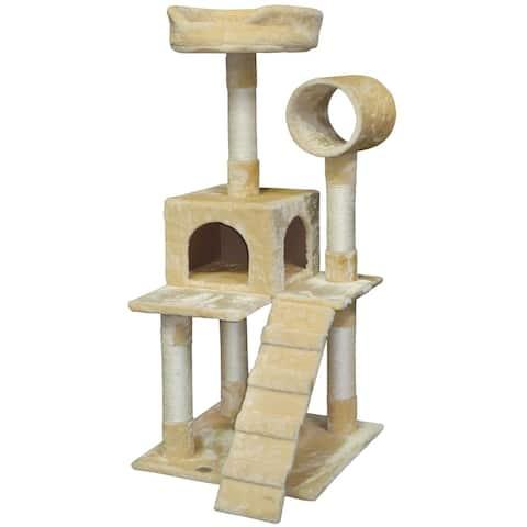 Go Pet Club 50-inch Pressed Wood Cat Tree Condo
