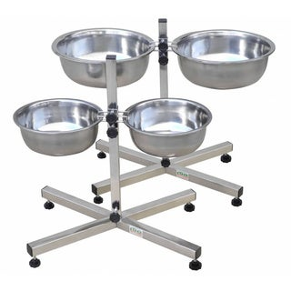 Go Pet Club Elevated Stainless Steel Pet Bowls