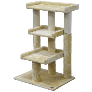Link to Go Pet Club 35-inch Faux Fur 3-level Cat Tree Scratcher Similar Items in Cat Ramps & Stairs