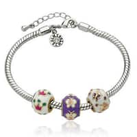 Little Miss Twin Stars Super Star Cutie Multi-colored Enamel Children's Bracelet