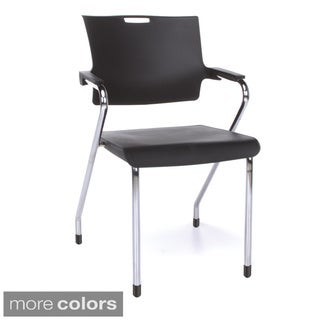 "OFM Smart Series Multiuse Plastic Stackable Chairs with Arms (Set of 4) - 35""H x 22""W x 23""D"