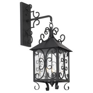 Columbian 3-light Espresso-finished Outdoor Wall Sconce