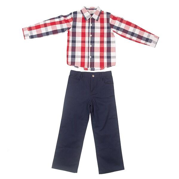 Peanut Buttons Boy's Yarn Dye Clothing Set