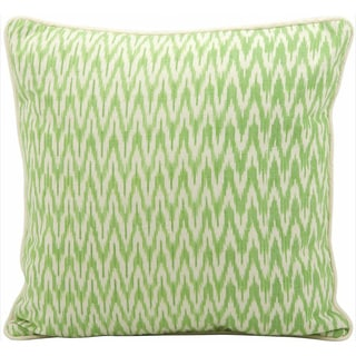 Mina Victory Lifestyle Ikat Green Throw Pillow (18-inch x 18-inch) by Nourison
