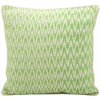 Mina Victory Lifestyle Ikat Green Throw Pillowby Nourison (18-Inch X 18-Inch)