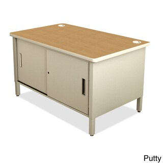 Marvel Utility Sorting Table with Sliding Doors (Option: Beige)
