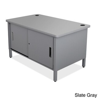 Marvel Utility Sorting Table with Sliding Doors (Option: Grey)