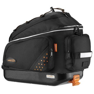 Ibera IB-BA1 Bike PakRak Clip-On and Quick-Release Commuter Trunk Bag