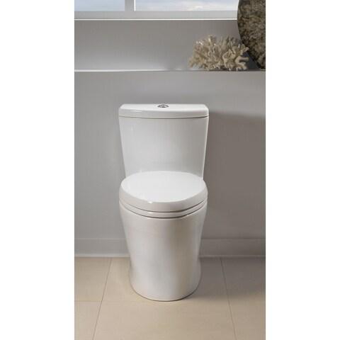 Toto Aquia One-Piece Elongated Dual-Max, Dual Flush 0.9 & 1.6 GPF Universal Height Skirted Toilet MS654114MF#01 Cotton White