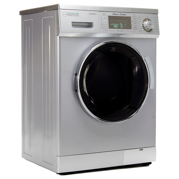 Equator 13 Lb Silver Convertible Combo Washer Dryer With Optional Venting Condensing Drying