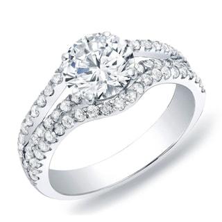 Auriya 14k Gold 1ct TDW Round Diamond Multi Row Engagement Ring (H-I, SI1-SI2)