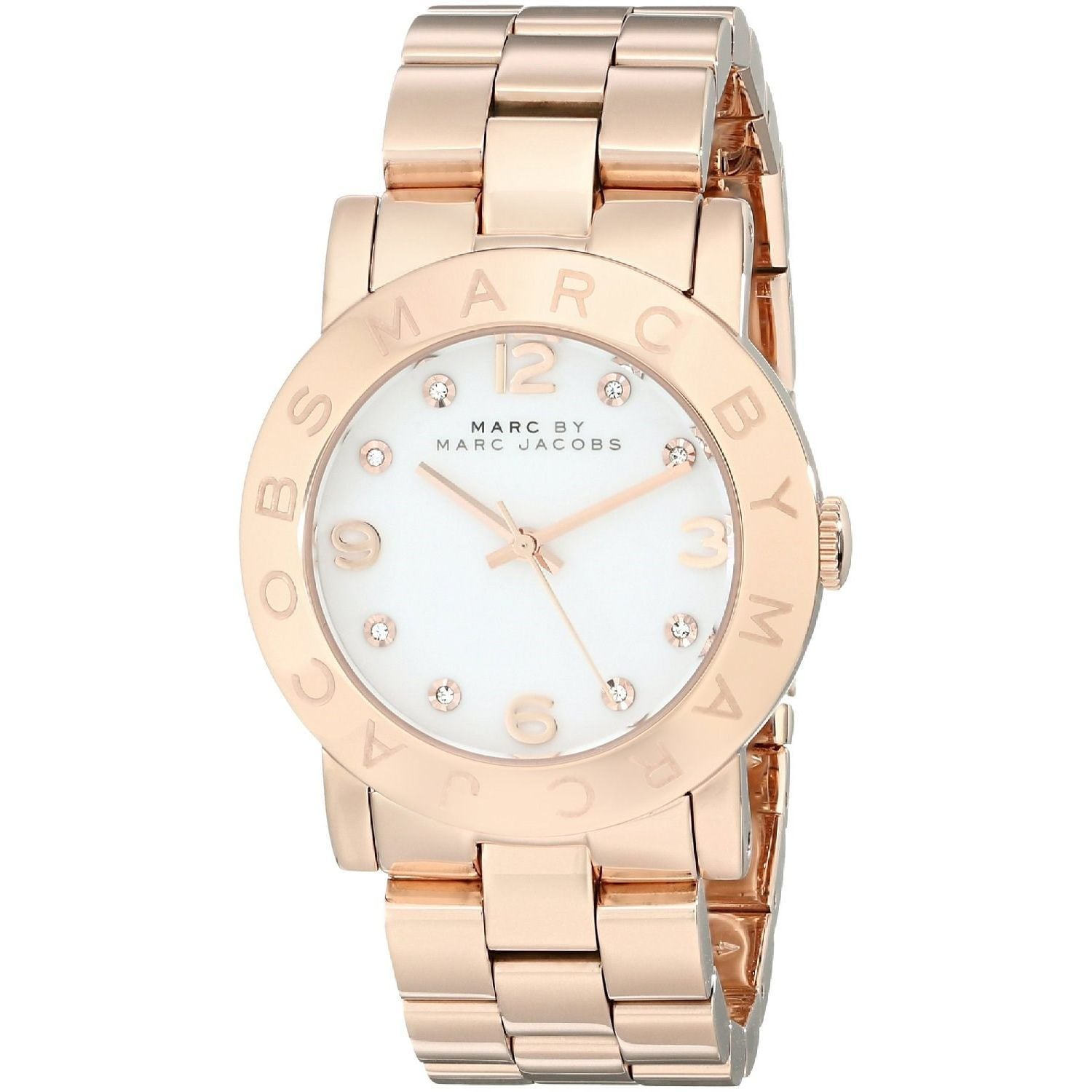 Marc Jacobs Women's MBM3077 Amy Rose Gold Watch (White), ...