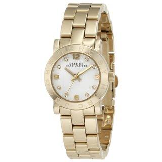 Marc Jacobs Women's MBM3057 Mini Amy Round Goldtone Bracelet Watch|https://ak1.ostkcdn.com/images/products/8866015/Marc-Jacobs-Womens-MBM3057-Mini-Amy-Gold-Watch-P16092518.jpg?_ostk_perf_=percv&impolicy=medium