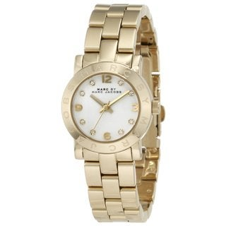 Marc Jacobs Women's MBM3057 Mini Amy Round Goldtone Bracelet Watch