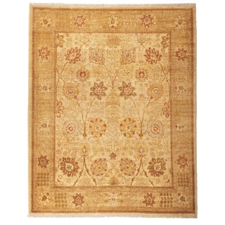 Safavieh Hand-knotted Peshawar Vegetable Dye Ivory/ Gold Wool Rug (12' x 18')