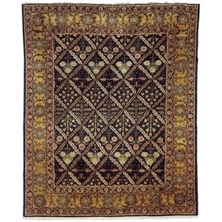 Safavieh Hand-knotted Peshawar Vegetable Dye Navy/ Gold Wool Rug - 12' x 18'