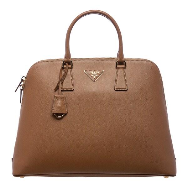 Prada 'Lux' Caramel Saffiano Leather Satchel