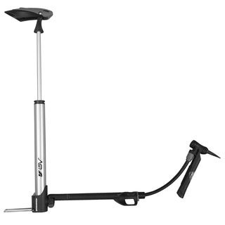 BV BV-GM71 Bike Mini Portabe Floor Pump and In-Line Gauge, Reversible Presta and Schrader Air Valve