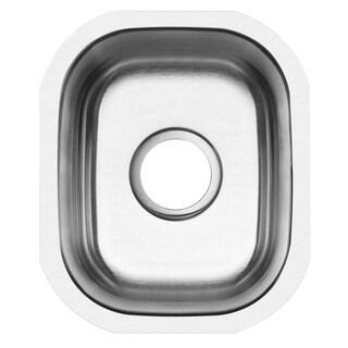 Ticor 12.75-inch 16-gauge Stainless Steel Undermount Kitchen Bar Sink