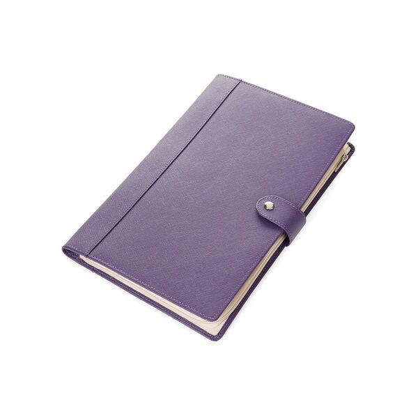 Morelle Naomi Saffiano Purple Leather Jewelry Notebook