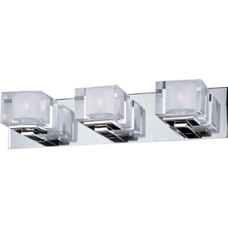 Maxim Cubic 3-light Chrome Vanity Fixture