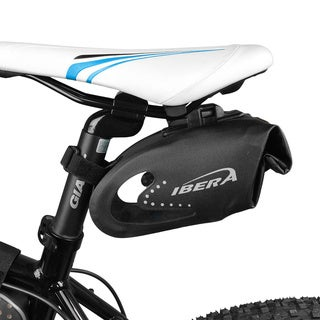Ibera IB-SB10 Bike All-Weather Reflective Waterproof, Clip-On Quick-Release Saddle Bag