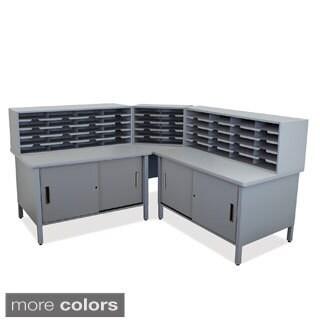 Cabinets and Sorters 50-slot Corner Mailroom Organizer