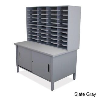 Marvel 40-slot Sliding Door Mailroom Organizer Cabinet (Option: Grey)