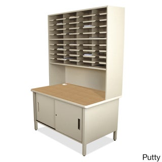 Marvel 40-slot Sorter/ Riser Mailroom Organizer Cabinet (Option: Beige)