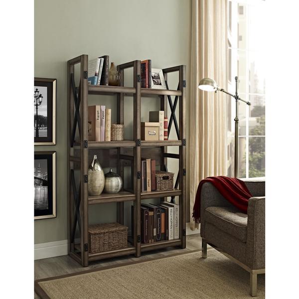 Altra Wildwood Rustic Metal Frame Bookcase/ Room Divider - Altra Wildwood Rustic Metal Frame Bookcase/ Room Divider - Free