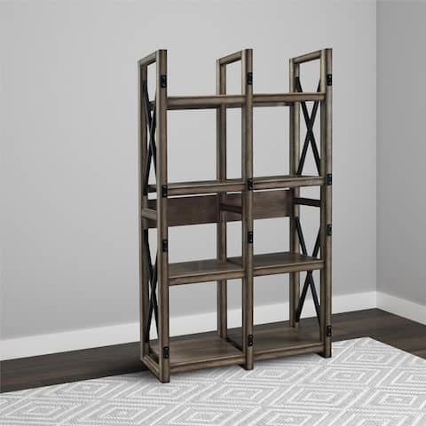 Avenue Greene Woodgate Rustic Metal Frame Bookcase/ Room Divider