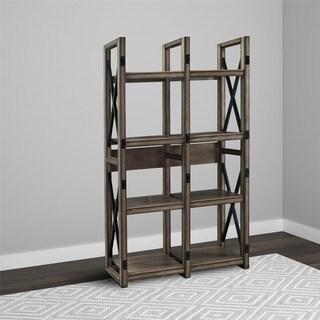 Avenue Greene Woodgate Rustic Metal Frame Bookcase/ Room Divider