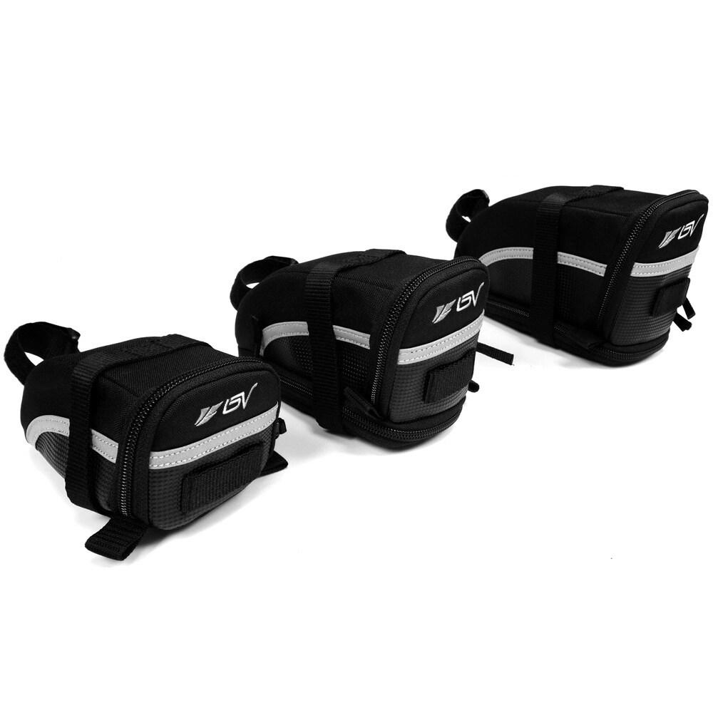 BV Bike Black Seat Strap-on Saddle Bag (IB-SB1-Large), Si...