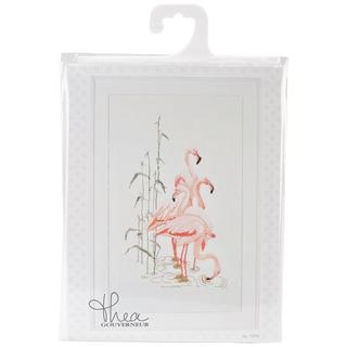 Flamingoes On Aida Counted Cross Stitch Kit - 15 X25-1/2 16 Count