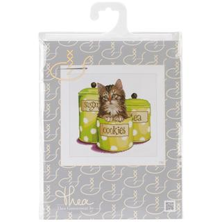 Cookie Time On Aida Counted Cross Stitch Kit - 12-1/4 X11-3/4 16 Count