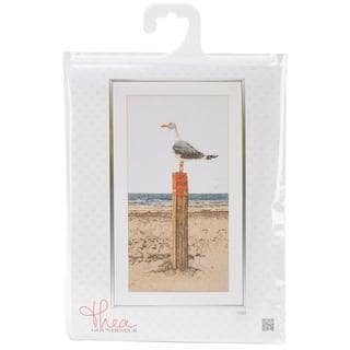 Seagull On Linen Counted Cross Stitch Kit - 13 X25-1/2 32 Count