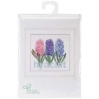 Hyacinth On Aida Counted Cross Stitch Kit - 16-1/2 X15-1/2 18 Count