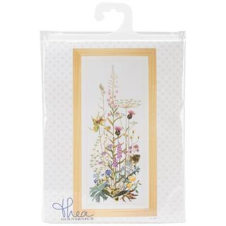 Wild Flowers On Aida Counted Cross Stitch Kit - 17-3/4 X43-1/4 16 Count