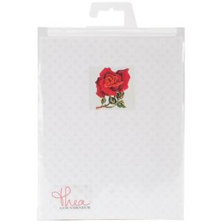 Red Rose On Aida Counted Cross Stitch Kit - 5-1/8 X5-1/8 16 Count