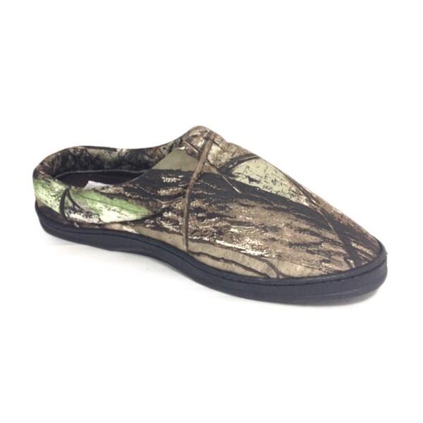 10507f87a1e23 Shop Winchester Men's 'Realtree' Print Open Back Slippers - Free ...
