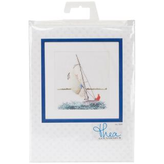 Sailing On Linen Counted Cross Stitch Kit - 6-1/4 X6-3/4 36 Count
