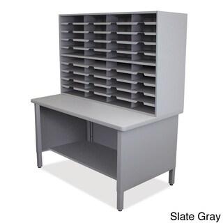 Marvel 40-slot Storage Shelf Mailroom Organizer (Option: Slate Grey)