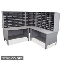 Marvel 100-slot 2-shelf Corner Mailroom Organizer