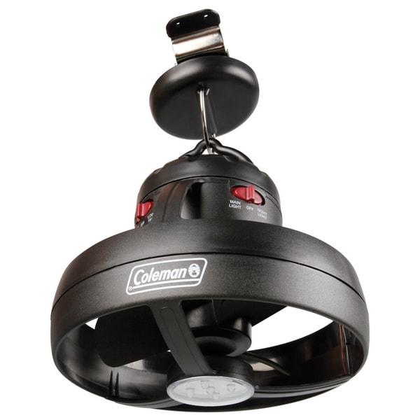 Coleman Cool Zephyr Lighted Black Ceiling Fan